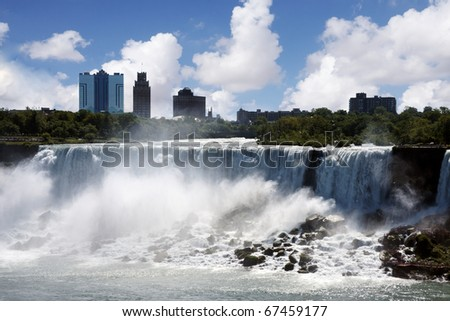 View from above of Niagara falls