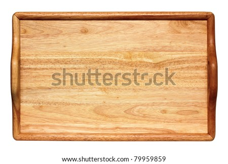 view from above on portable wooden table