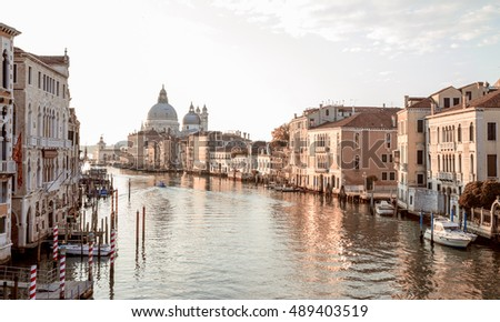 view from accademia bridge on...