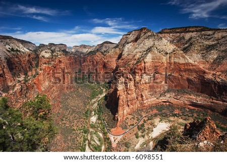 View from Angel's Landing, Zion National Park