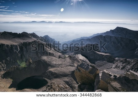 View from atop Mt Whitney #344482868