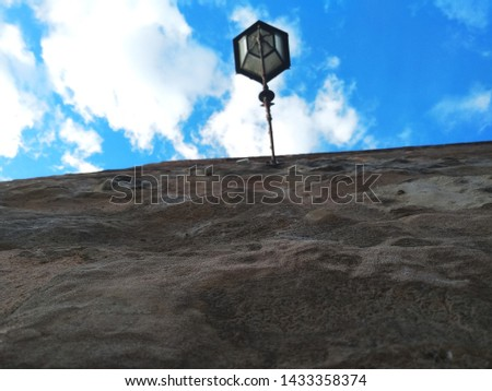 View from below of a wall. #1433358374