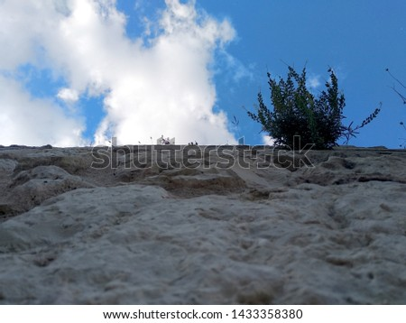 View from below of a wall. #1433358380