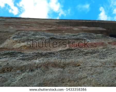 View from below of a wall. #1433358386