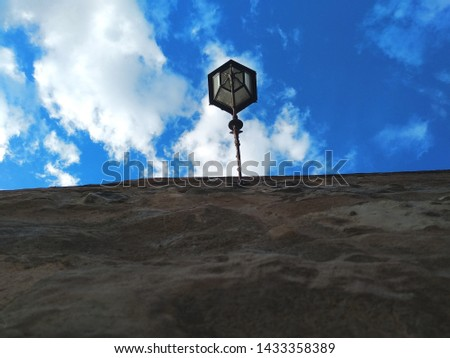 View from below of a wall. #1433358389