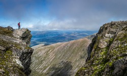 view from Ben nevis Scotland with views north west