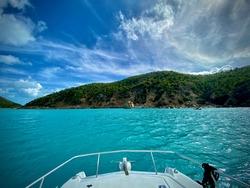 View from boat Great Camanoe, British Virgin Islands, Caribbean