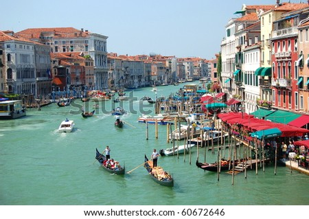 View from Bridge Rialto in Venice, Italy