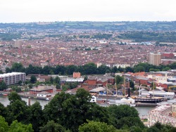 View from  Cabot tower in Bristol commemorating John Cabot's voyage to America in 1497 (100 fh high)