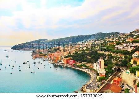 View from Cap Ferrat village in France #157973825
