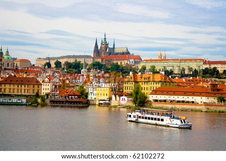 View from Charles Bridge. Prague. Czech Republic