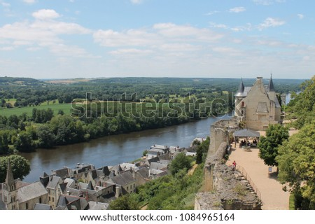 View from Chateau de Chinon (Loire Valley, France) #1084965164