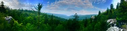 view from cliff edge in dolly sods. monongahela national forest West Virginia