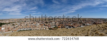 view from consuegra castle ...