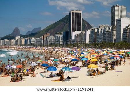 View from copacabana Beach, Rio de Janeiro, Brazil