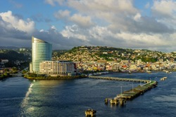 view from cruise ship of port FORT-DE-FRANCE, MARTINIQUE