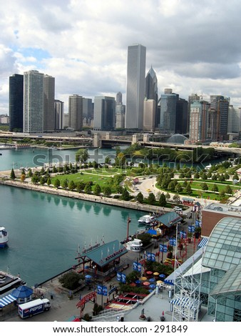 View from Ferris Wheel, Navy Pier, Chicago
