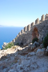 View from fortress, Alanya, Turkey.
