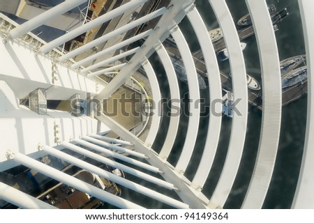 view from glass floor observation platform of the Spinnaker Tower, Portsmouth, UK