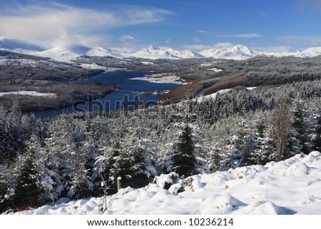 View from Glen Garry over Loch Quoich