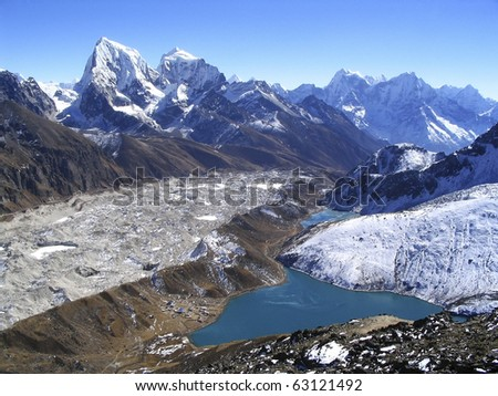 View from Gokyo Ri in the Nepalese Himalaya