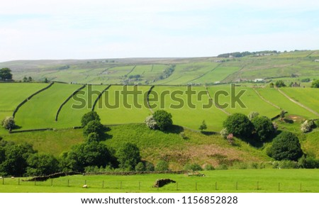 View From Haworth Moor Towards Stanbury and Oldfield