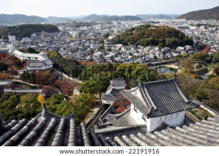 View from Himeji Castle, Japan