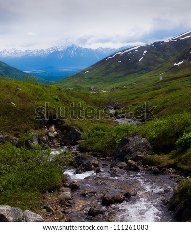 View from Independence Mine, Alaska