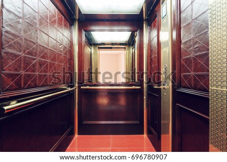 view from inside the elevator #696780907