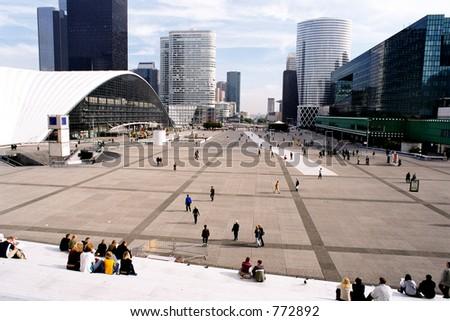View from La Grande Arche in Paris