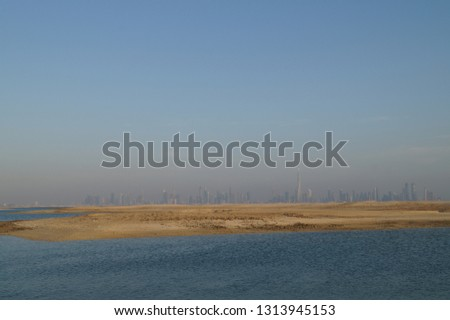 View from Lebanon Island - Dubai