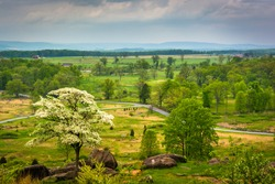 View from Little Round Top in Gettysburg, Pennsylvania.
