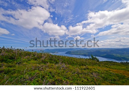 View from Lookout Hill in Gros Morne National Park in Newfoundland
