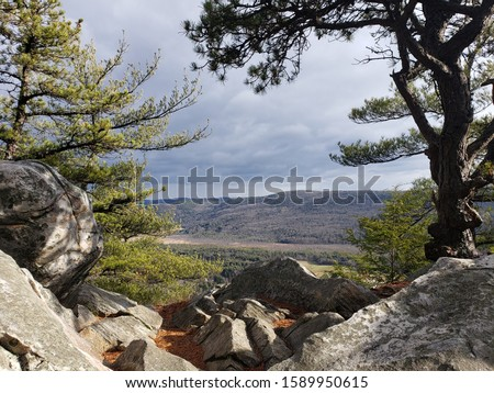 View from Monument Mountain, Great Barrington, MA Stok fotoğraf ©