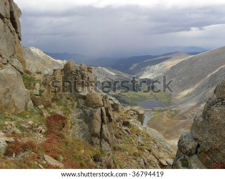 view from mount evans, colorado