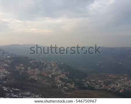View from Mount  Lebanon Sofar Sawfar valley