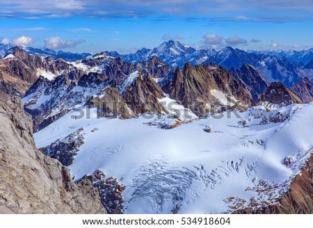 view from mt. titlis in the...