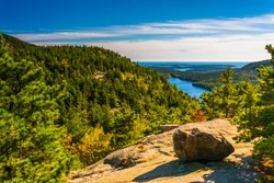 View from North Bubble, in Acadia National Park, Maine.