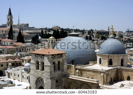 View from one of the roofs in the old city of Jerusalem