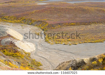 View from Polychrome Pass in Denali National Park, Alaska
