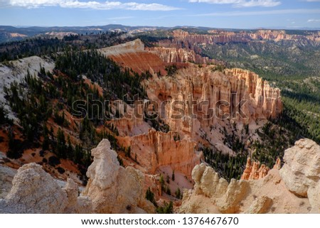 View from Rainbow Point in Bryce Canyon National Park - Utah, USA