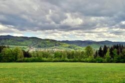 View from Schönberg near Freiburg in spring