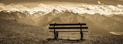 view from Schmitten mountain in Austria - near Zell am See - photo