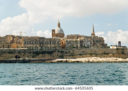 View from Sliema to Valletta. Malta - stock photo
