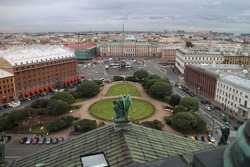 View from St. Isaac´s cathedral, Saint Petersburg, Russia