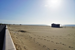 view from the beach at narbonne plage ,france