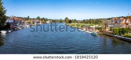 View from the bridge over the River Thames at Henley in Oxfordshire, England.