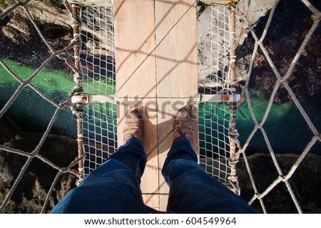 View from the Carrick a Rede Rope Bridge , Northern Ireland Foto stock ©