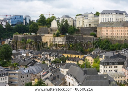 View from the Casemates on old Luxembourg City.