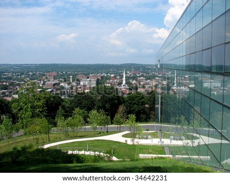 View from the Curtis R. Priem Experimental Media & Performing Arts Center at Rensselaer Polytechnic Institute in Troy, New York Stock fotó ©
